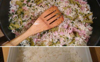 Réutilisez les restes de riz